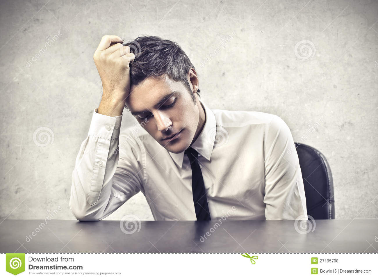 Stressed Office Worker Royalty Free Stock Photos Image