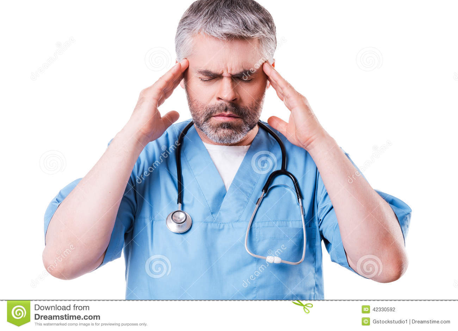 Stressed Surgeon. Stock Photo - Image: 42330592