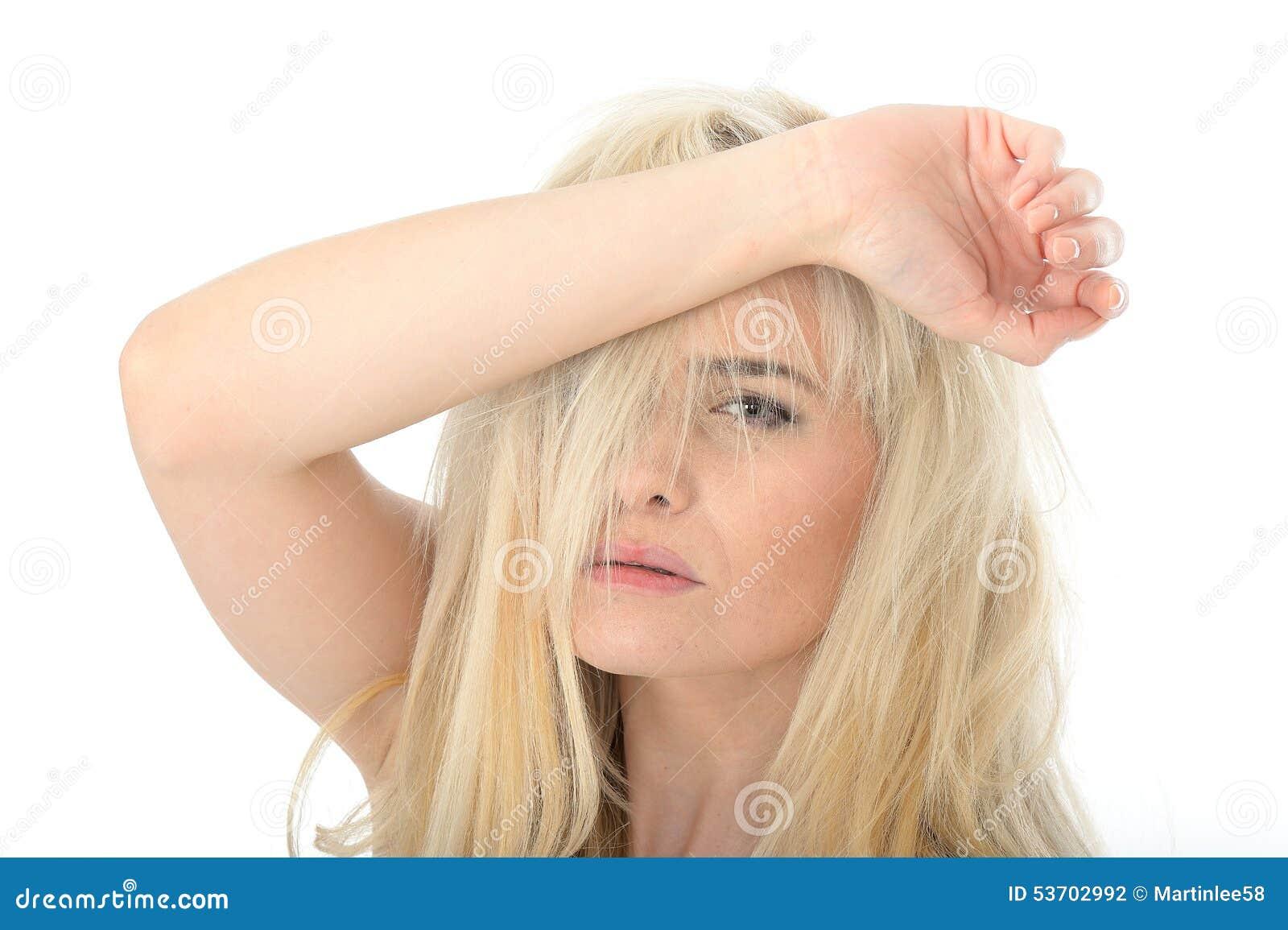 pale skin facial hair tired