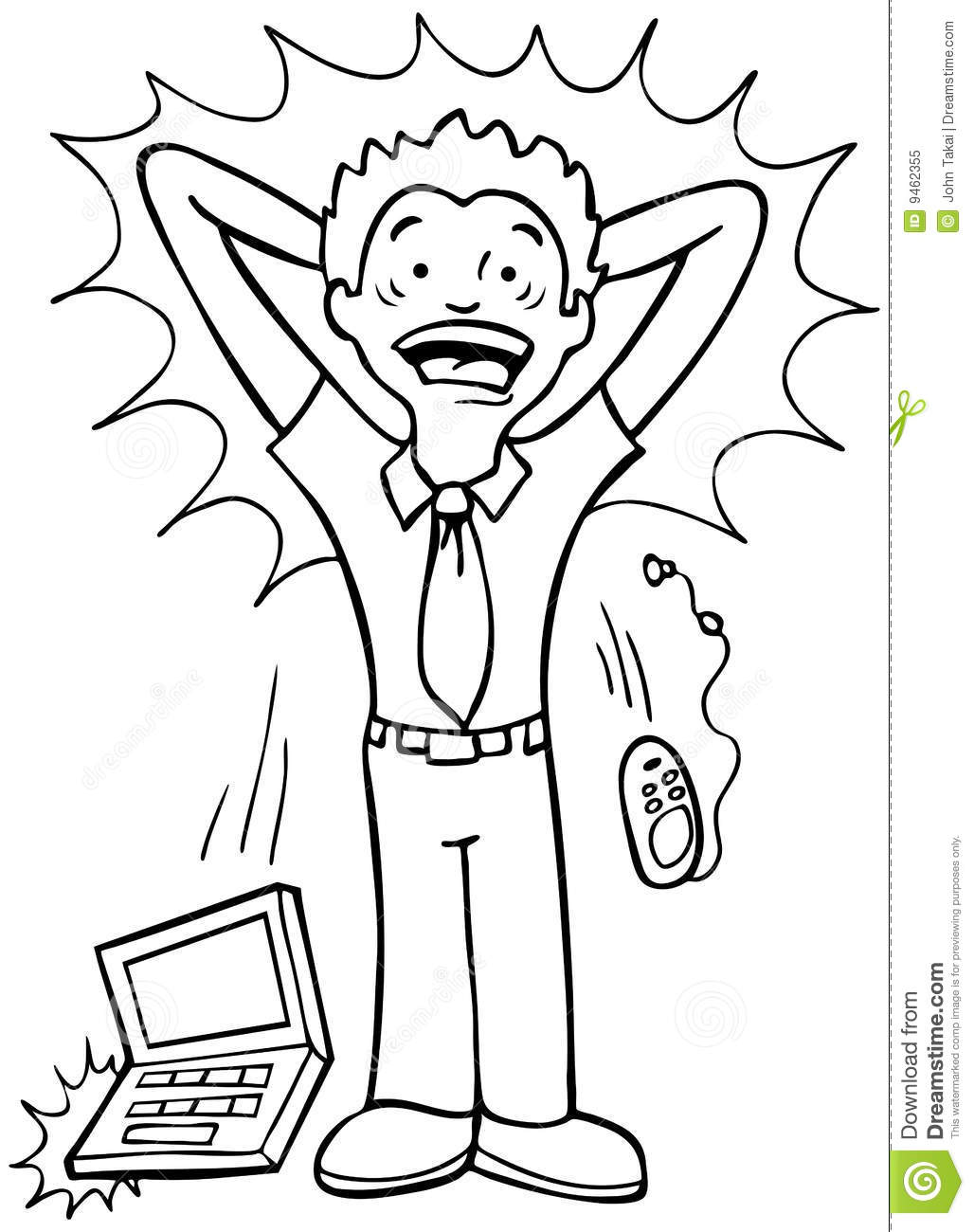 Stressed Worker - Black And White Royalty Free Stock Photo ...