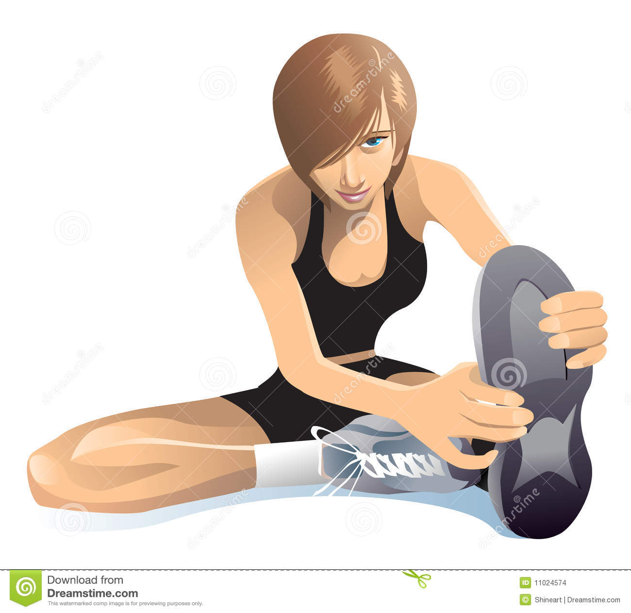 Stretching Exercises Stock Images - Image: 11024574