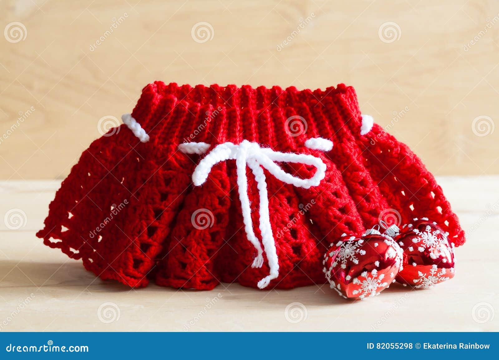 Stricken Weihnachtsrock, Baumspielzeug, Abschluss Oben Stockfoto ...