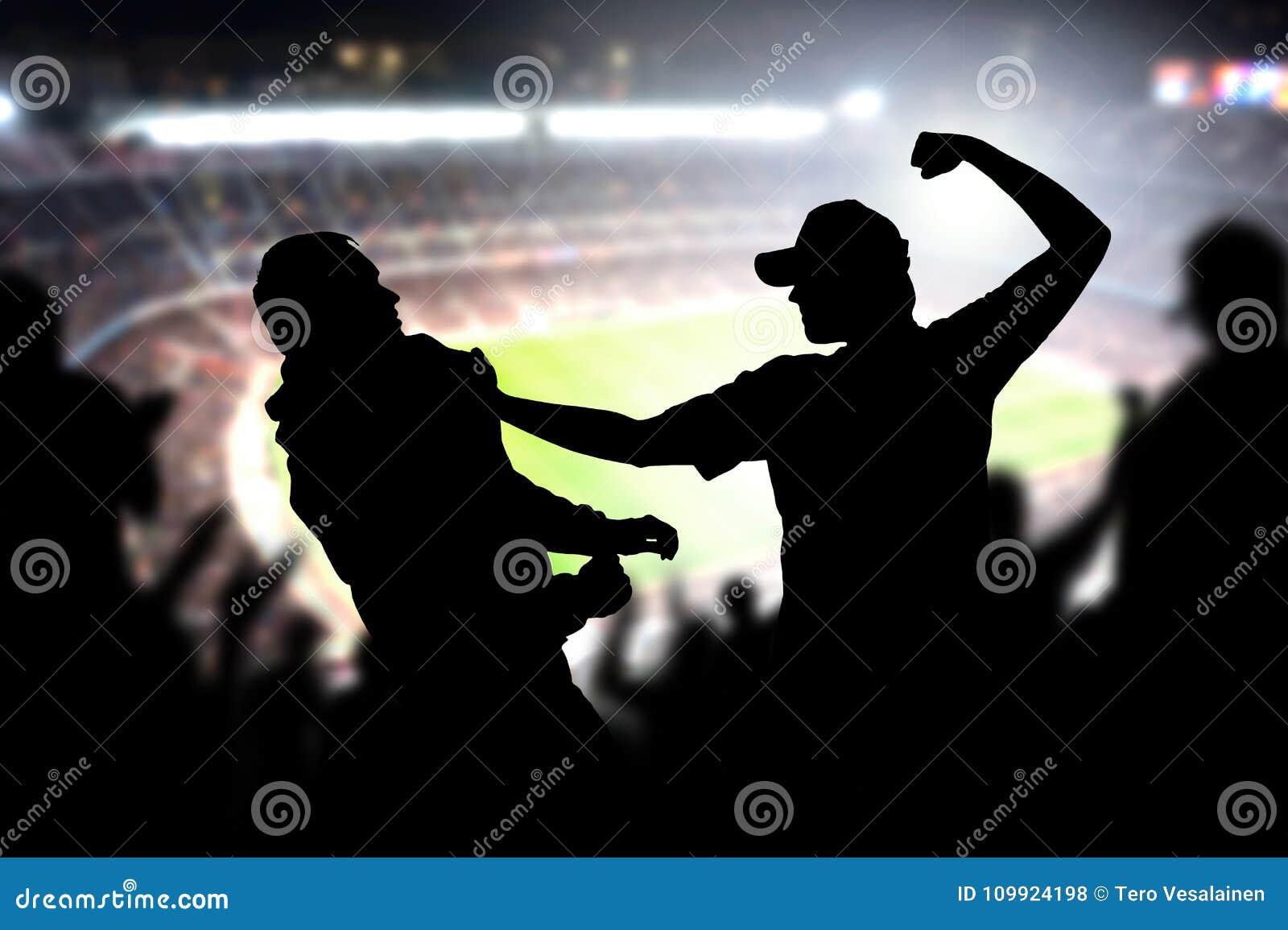 Strijd in een menigte van het voetbalspel
