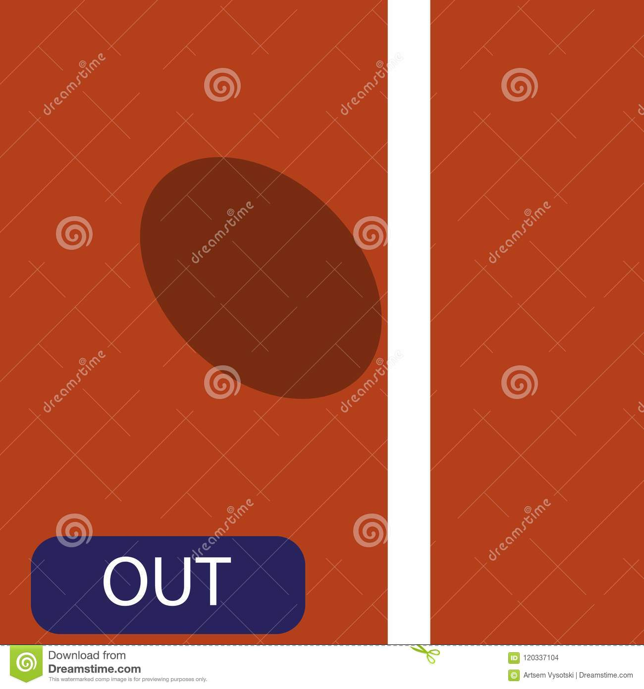 The Strike Icon In The Big Tennis On The Ground  Challenge Of The