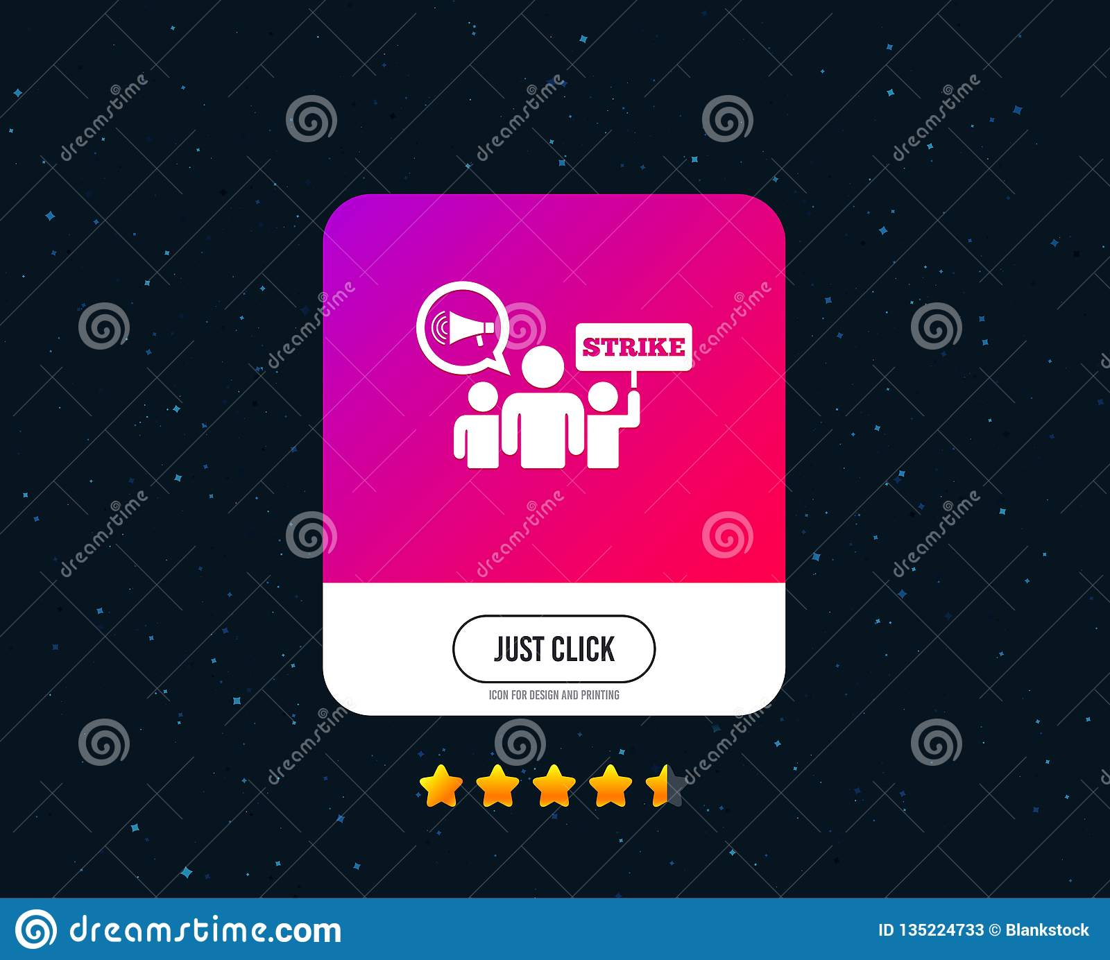 Strike sign icon. Group of people symbol. Vector