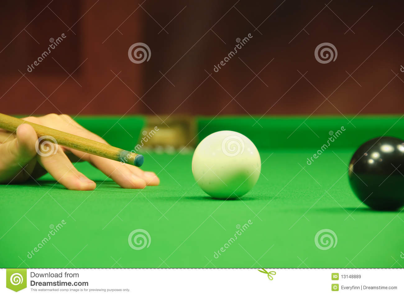 Striking The Cue Ball Royalty Free Stock Images Image