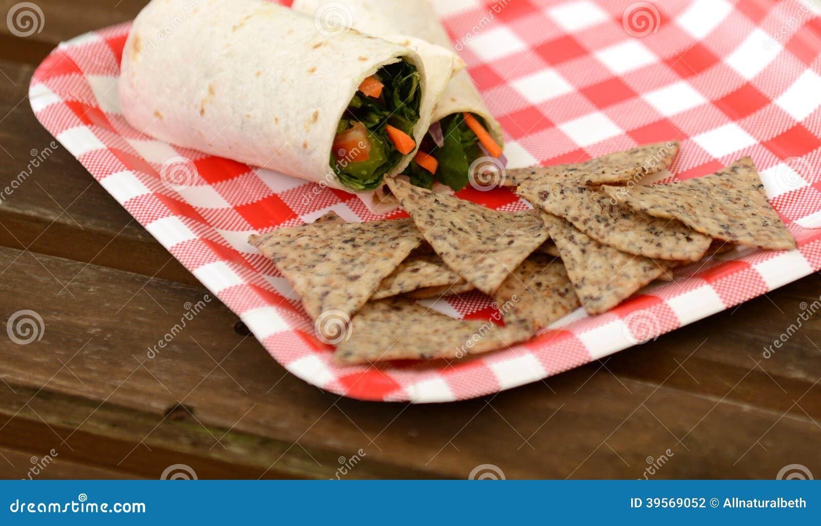 Strikt vegetariansjal- och tortillachiper