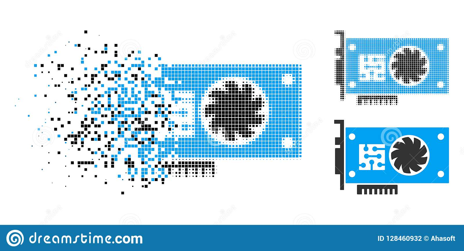 Strimlad symbol för Pixelated rastrerad GPU gaspedalkort