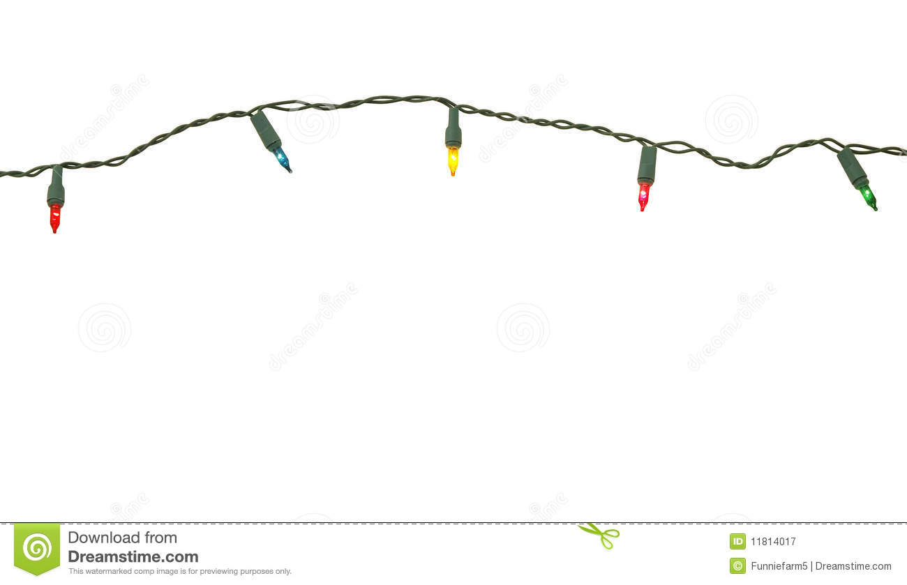 How To String Christmas Tree Lights Today Show : String of christmas lights stock image. Image of strung - 11814017