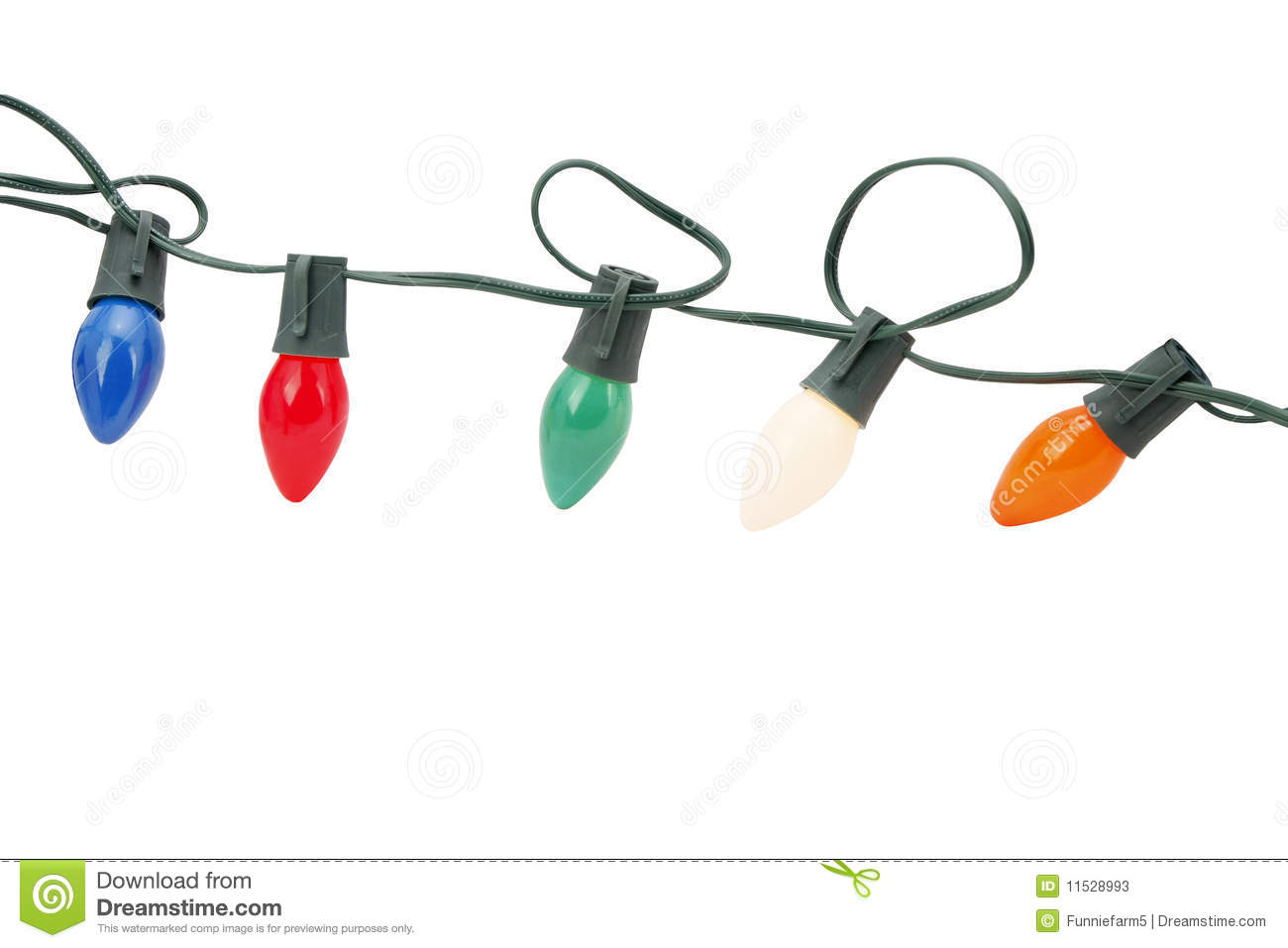 No String Xmas Lights : String Of Christmas Lights Isolated Stock Photos - Image: 11528993