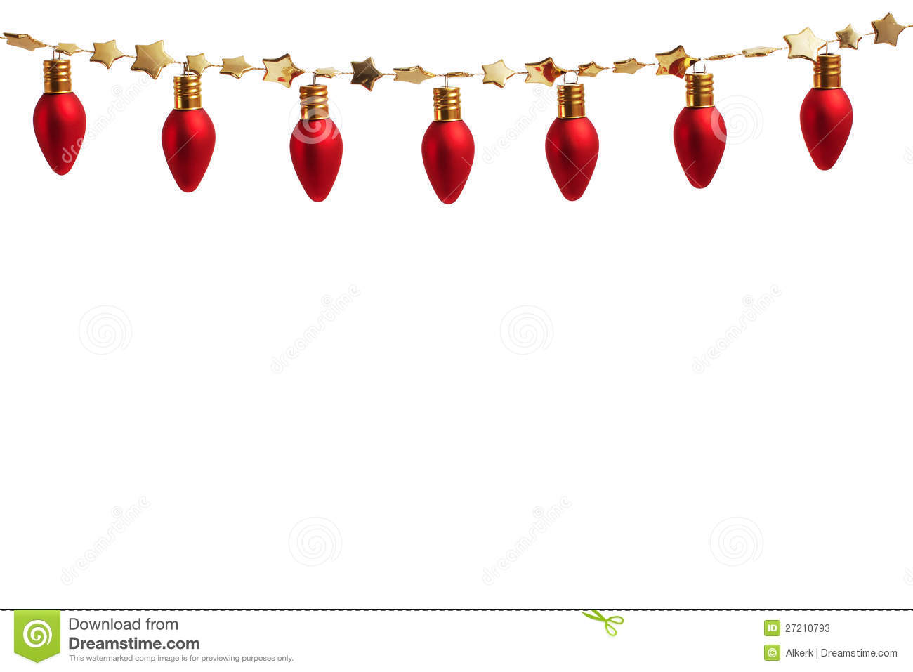 Download String Of Christmas Ornament Lights Stock Image