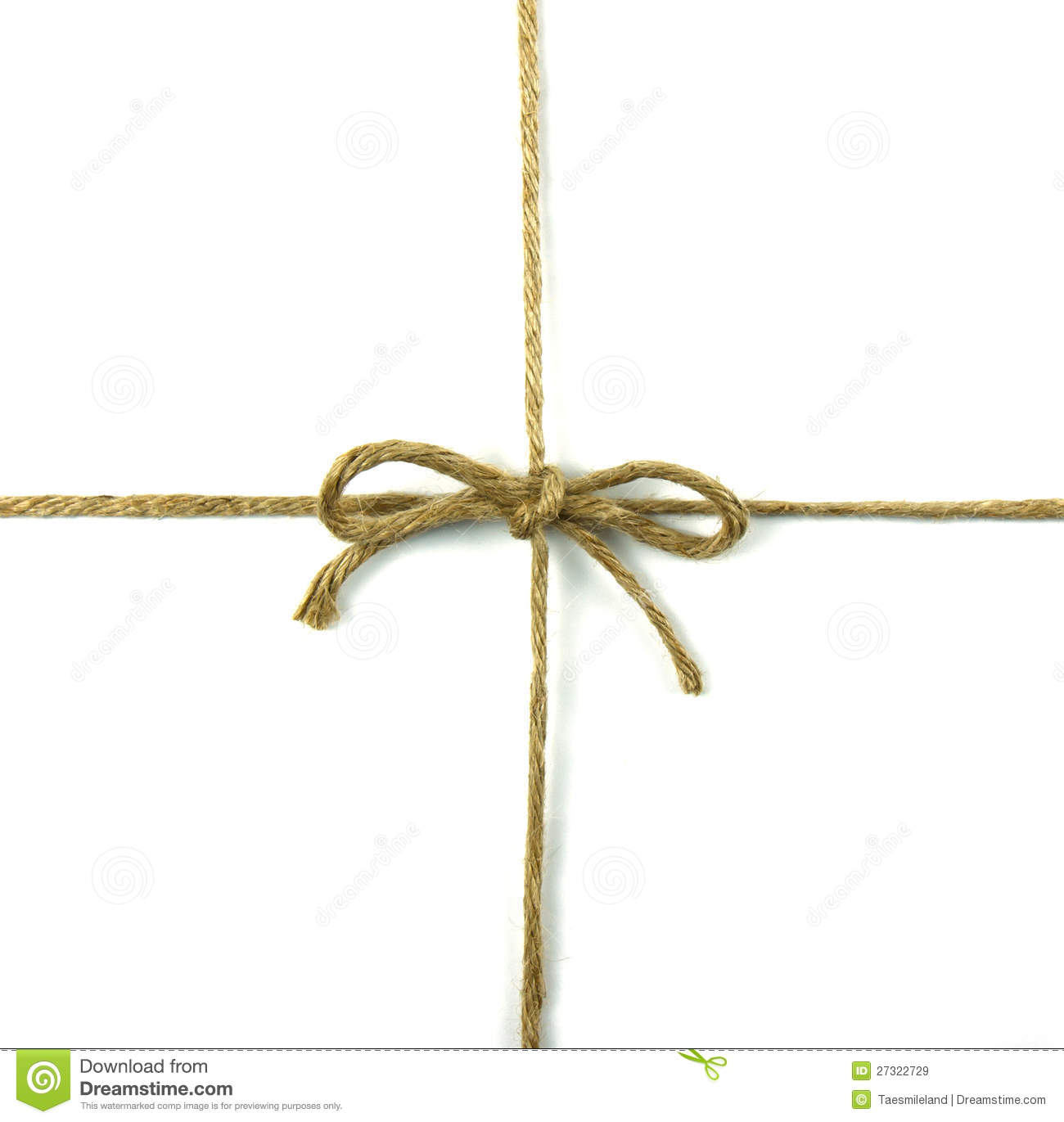 String Tied In A Bow On White Stock Image Image 27322729