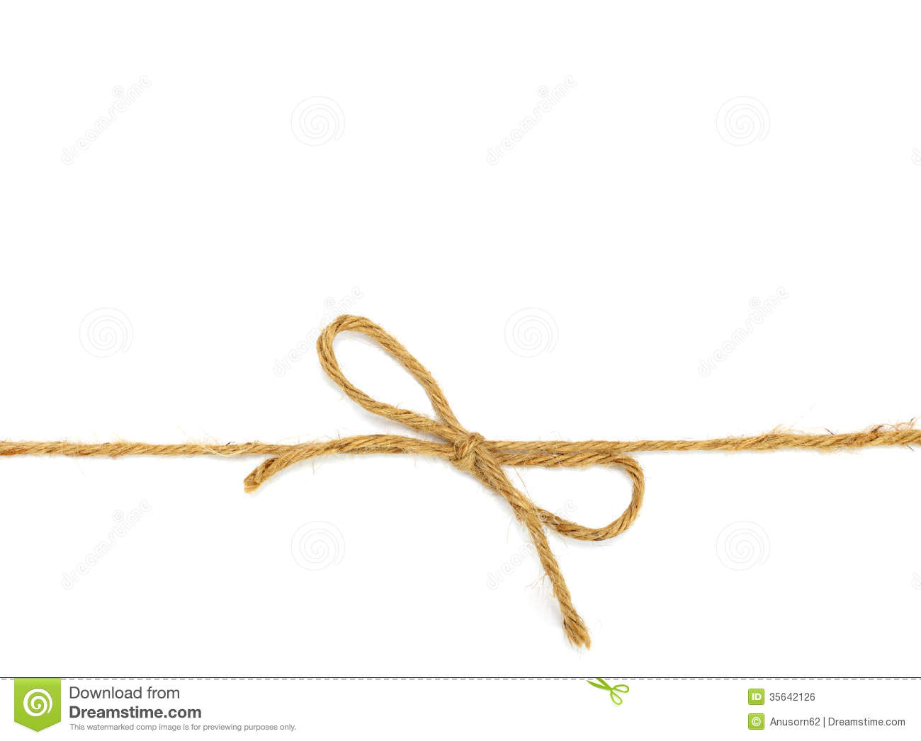 String Tied In A Bow Stock Photo Image Of Tied Shipping