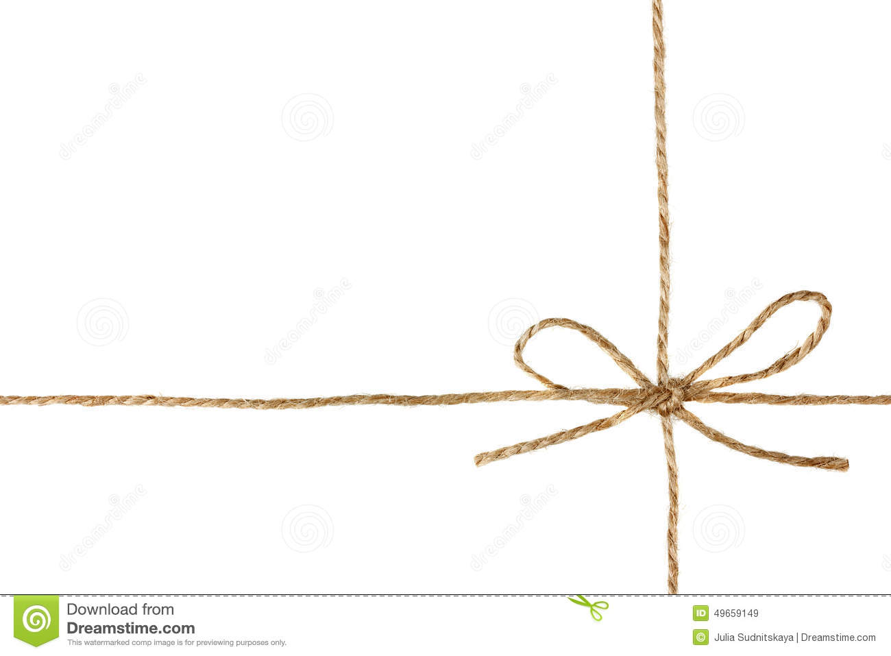 String Or Twine Tied In A Bow Isolated On White Stock ...