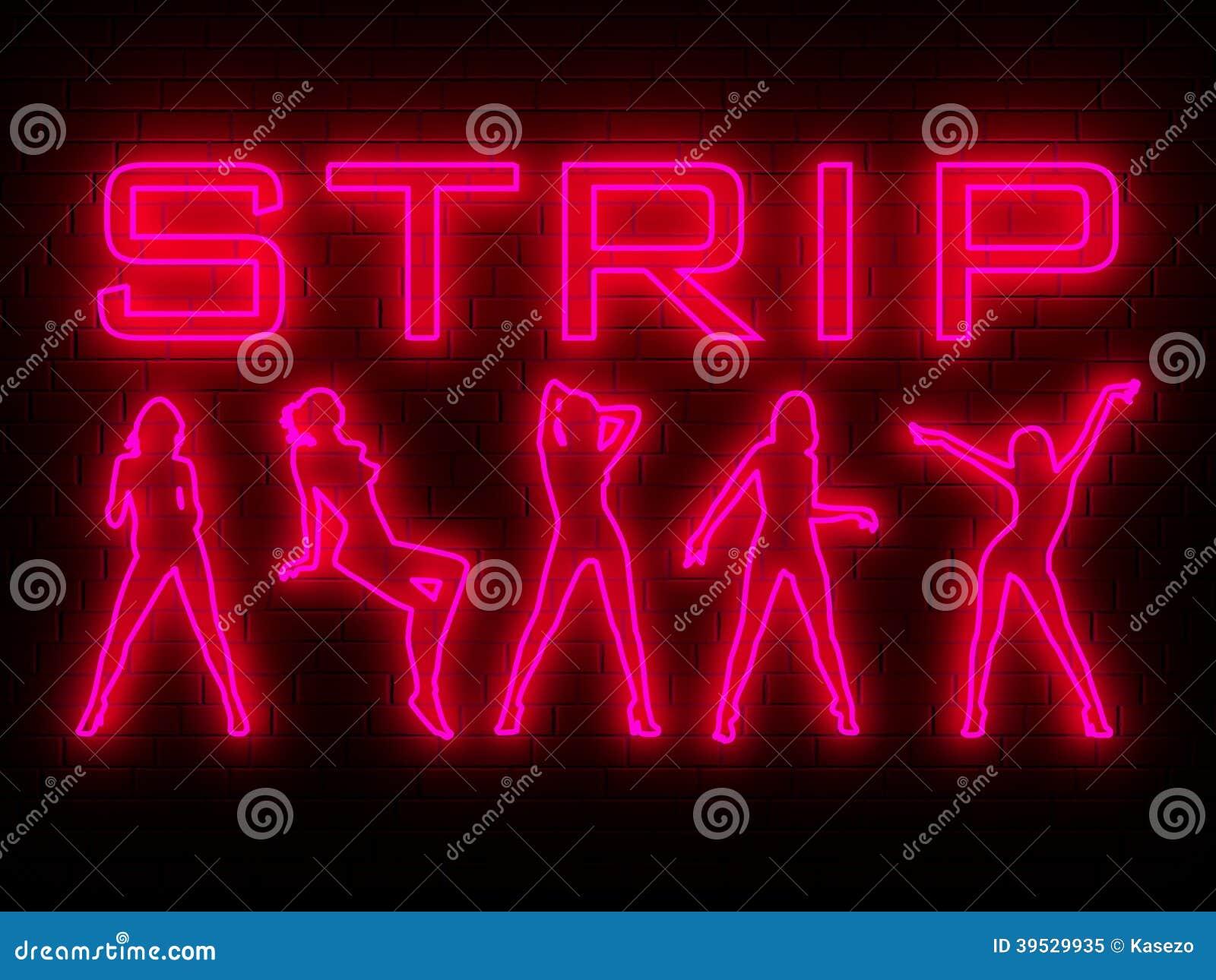 Strip Bar Wall Neon Stock Illustration Image 39529935