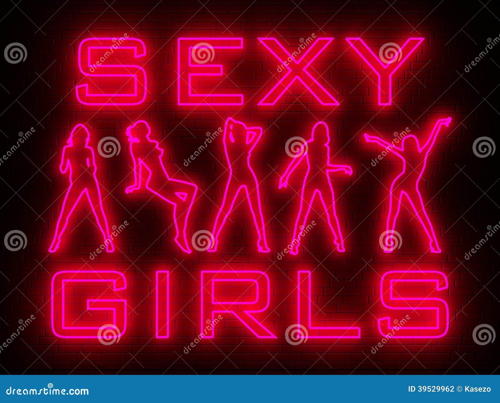 Strip Bar Wall Neon Stock Illustration Illustration Of