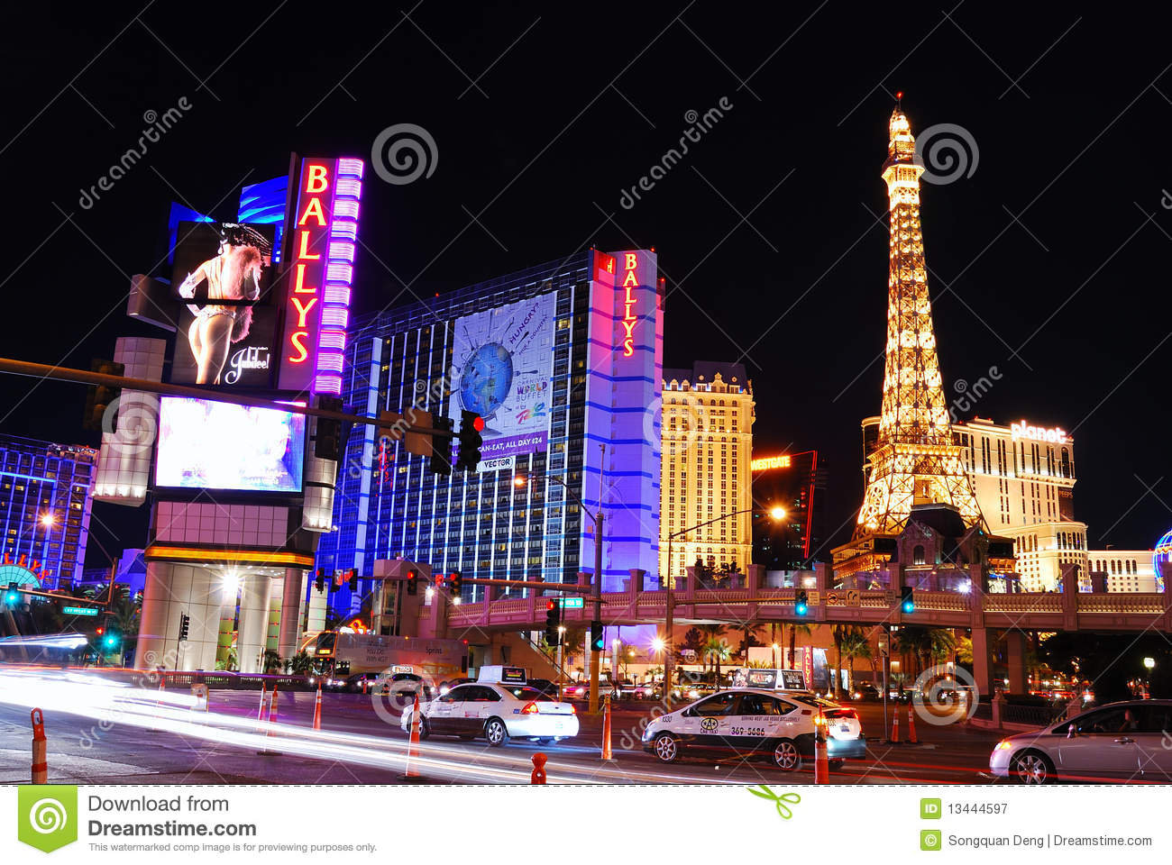 Las Vegas By Night Las Vegas De Noche As Vegas Pola: Strip Street Night Scene, Las Vegas Editorial Photography