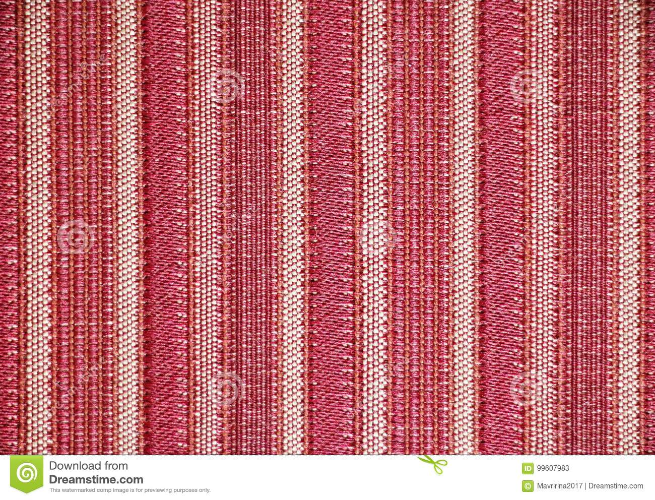 Stripe Fabric Texture Red And White Colors Stock Image Image Of