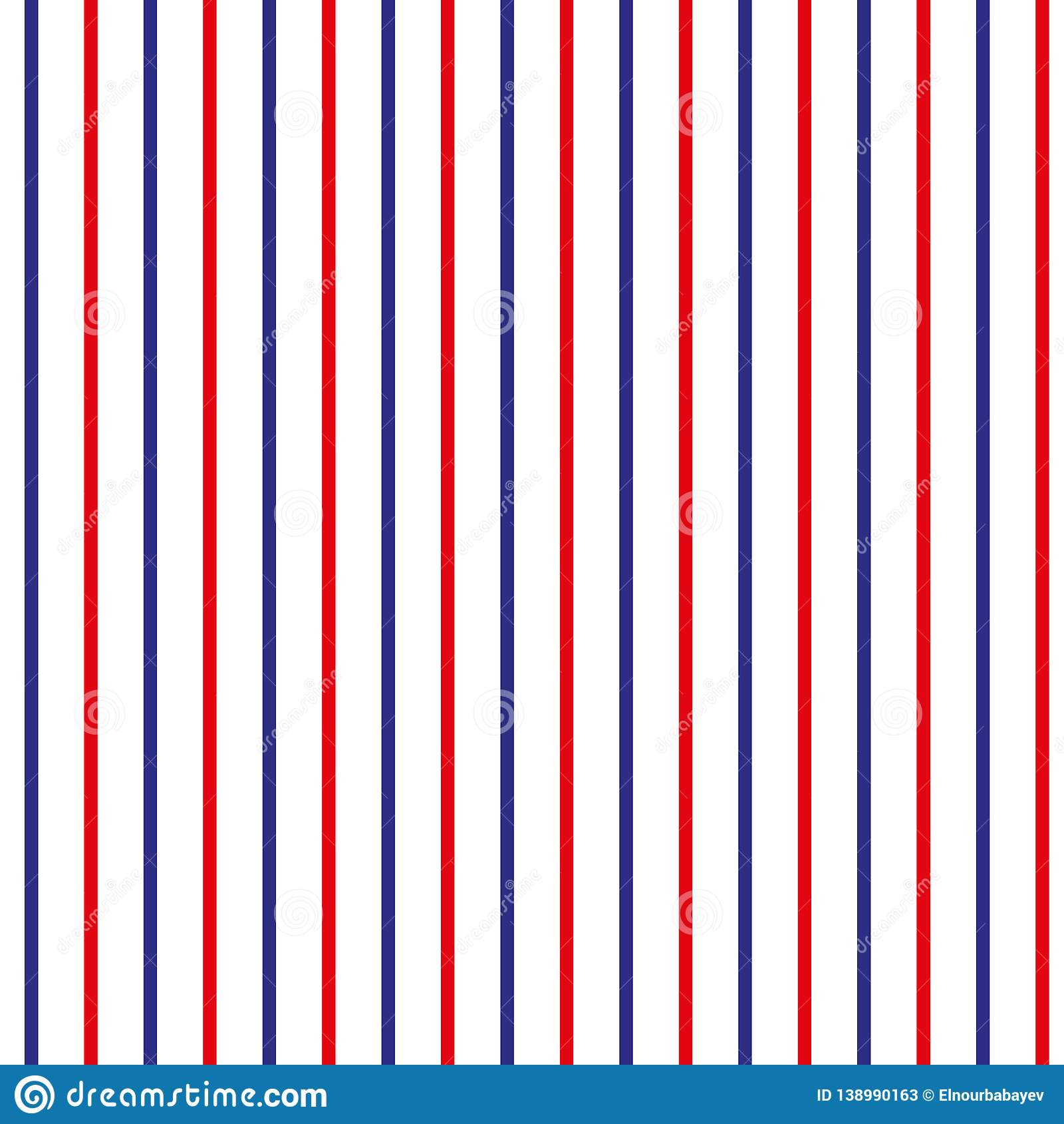58b14958 Stripe seamless pattern with red,blue and white vertical parallel stripe.Vector  abstract background