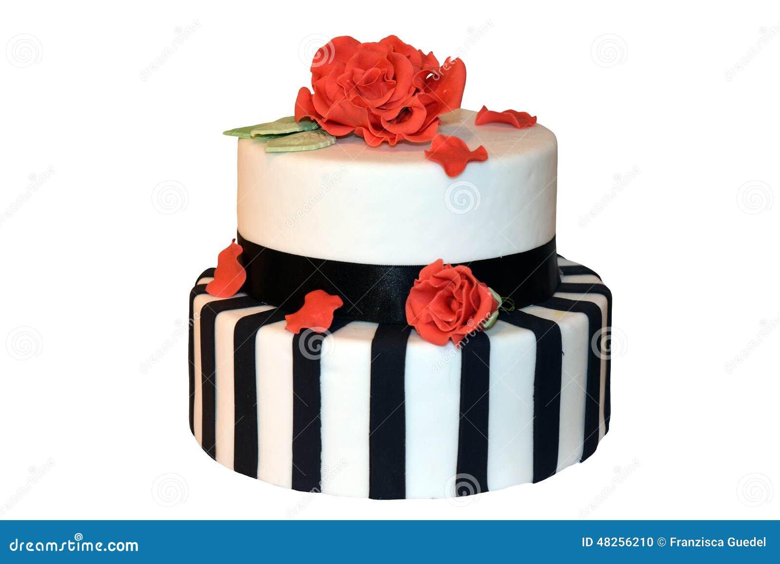 Striped свадебный пирог