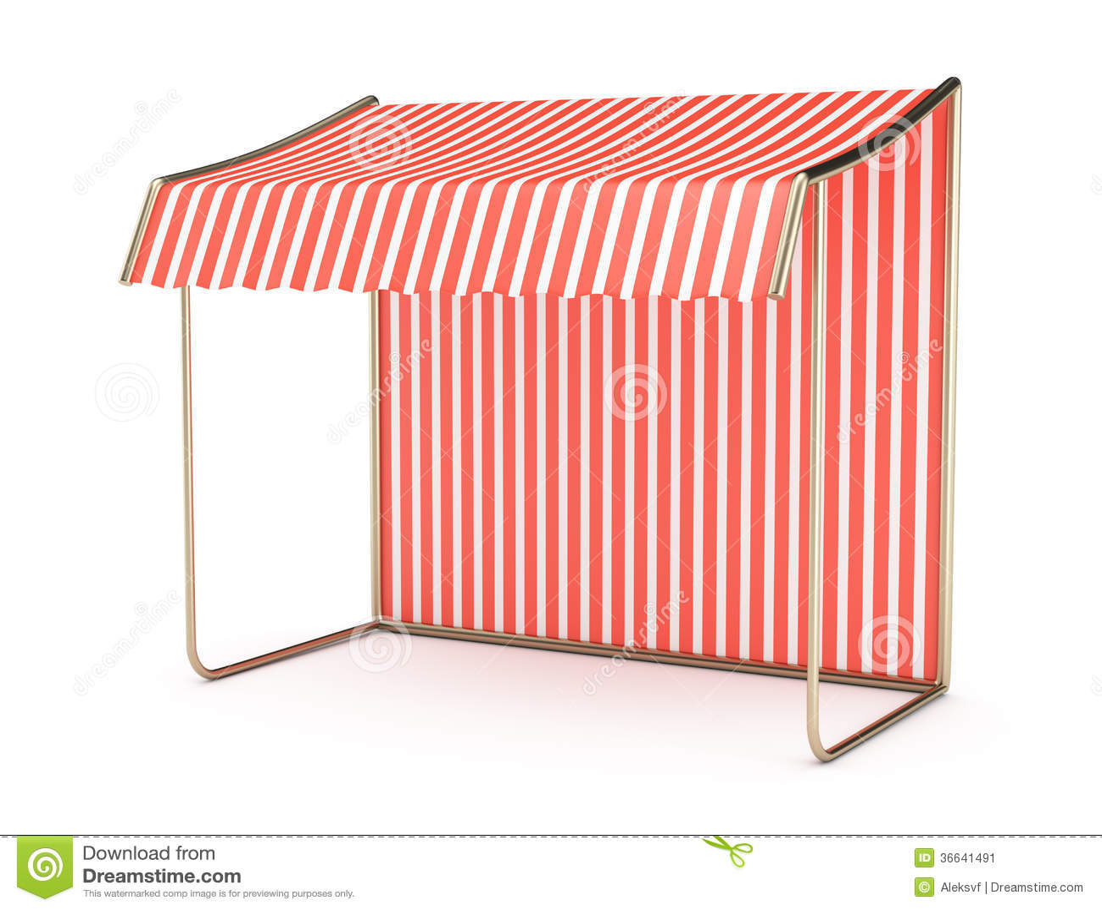 Striped Awning Stock Image Image 36641491