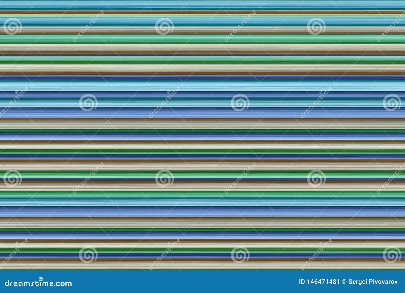 Striped background blue lilac beige green stripes colorful base design art horizontal