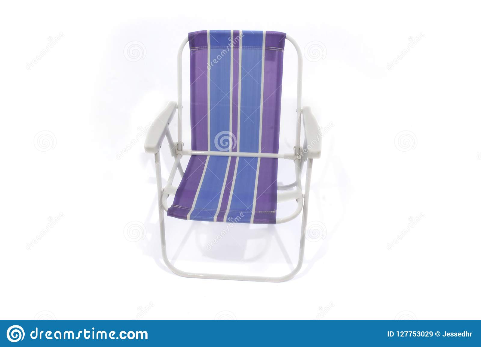 Strange Striped Beach Chair Isolated On White Background Stock Image Caraccident5 Cool Chair Designs And Ideas Caraccident5Info
