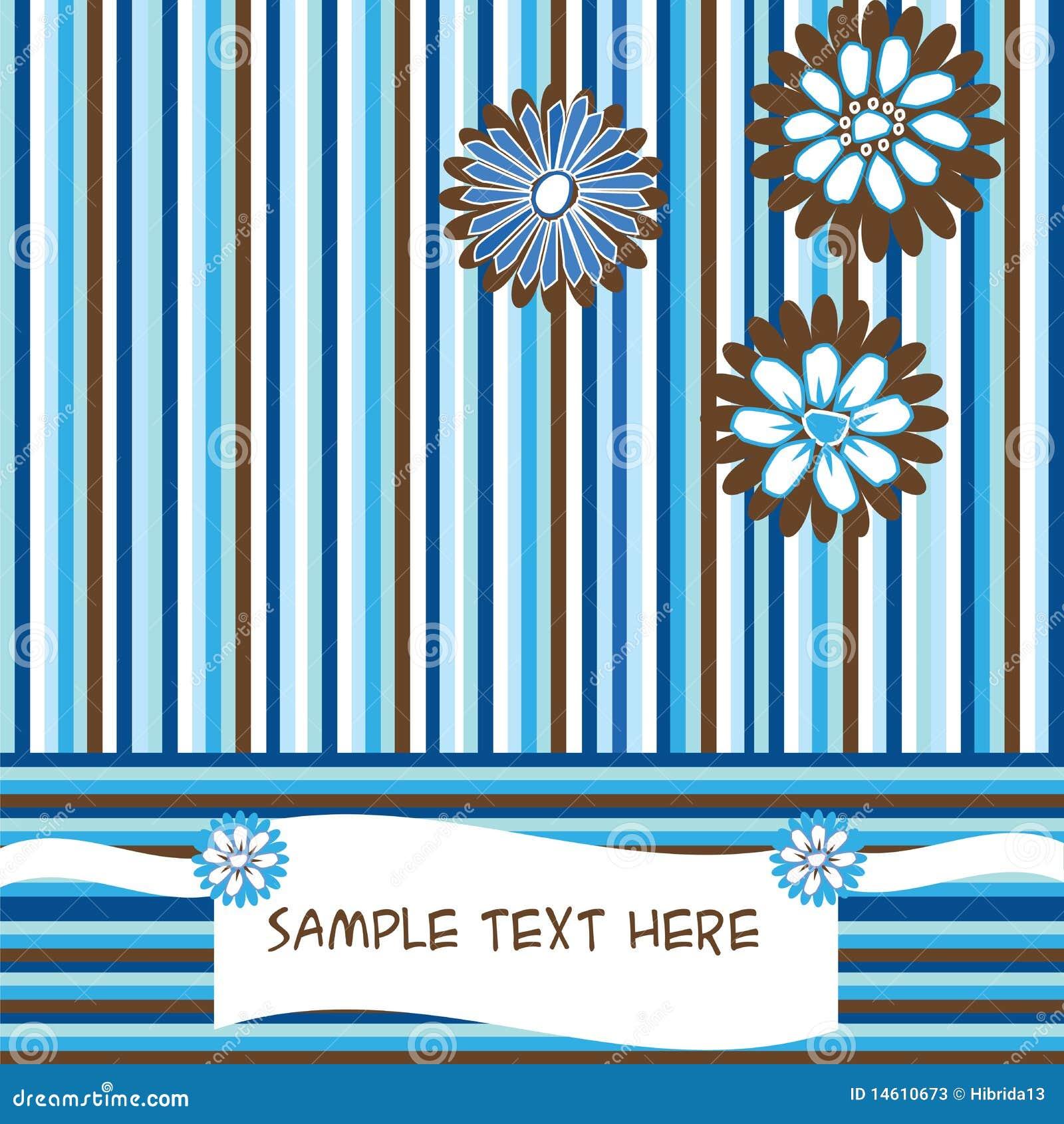 striped card