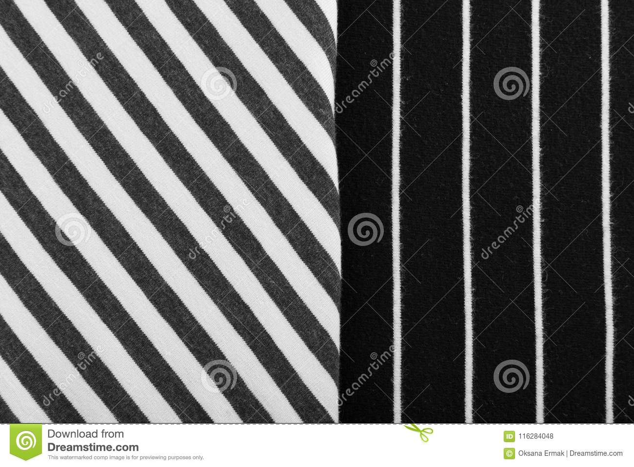 Striped Cotton Fabric Background Stock Photo Image Of Linen Black