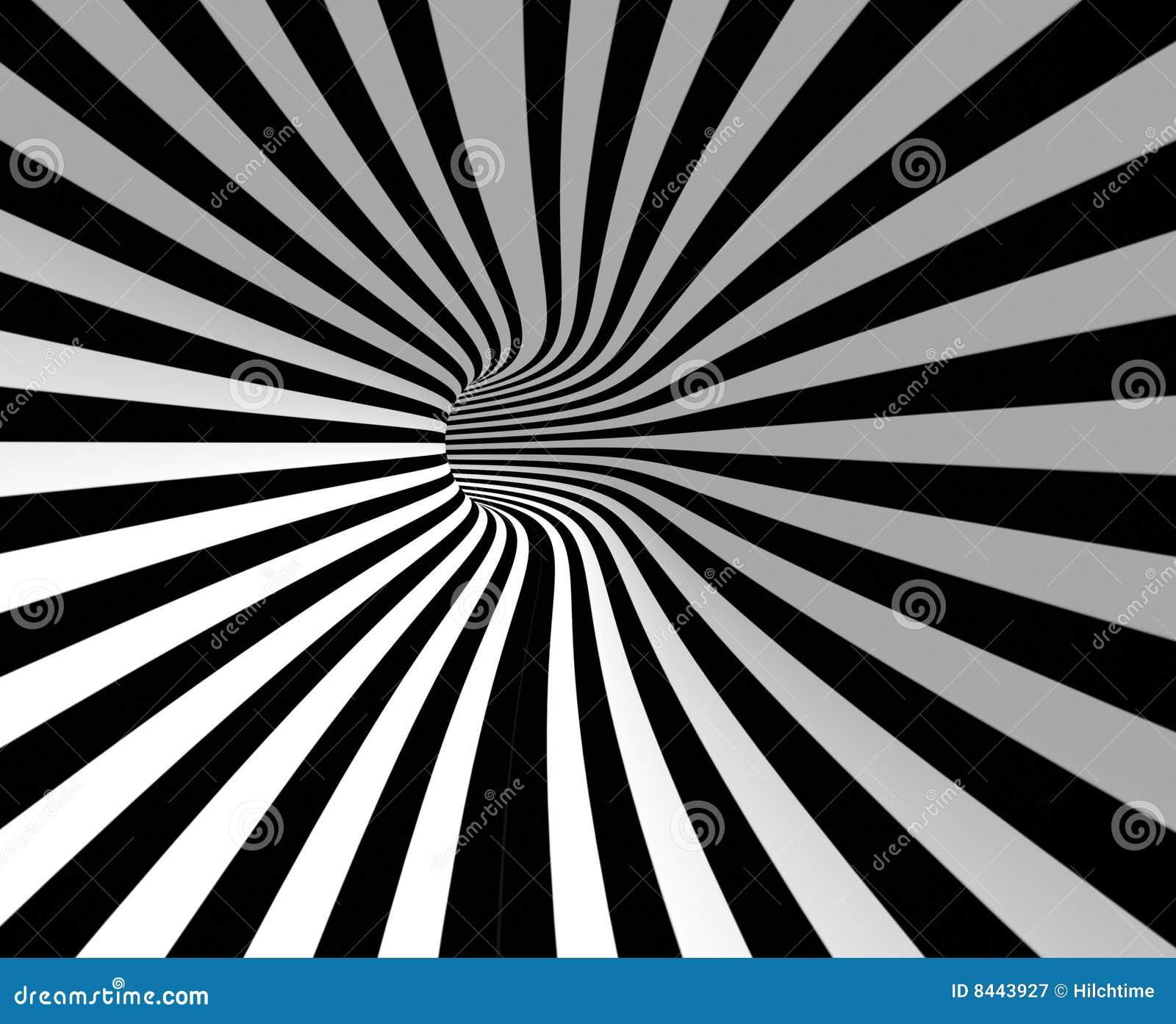 Striped hole