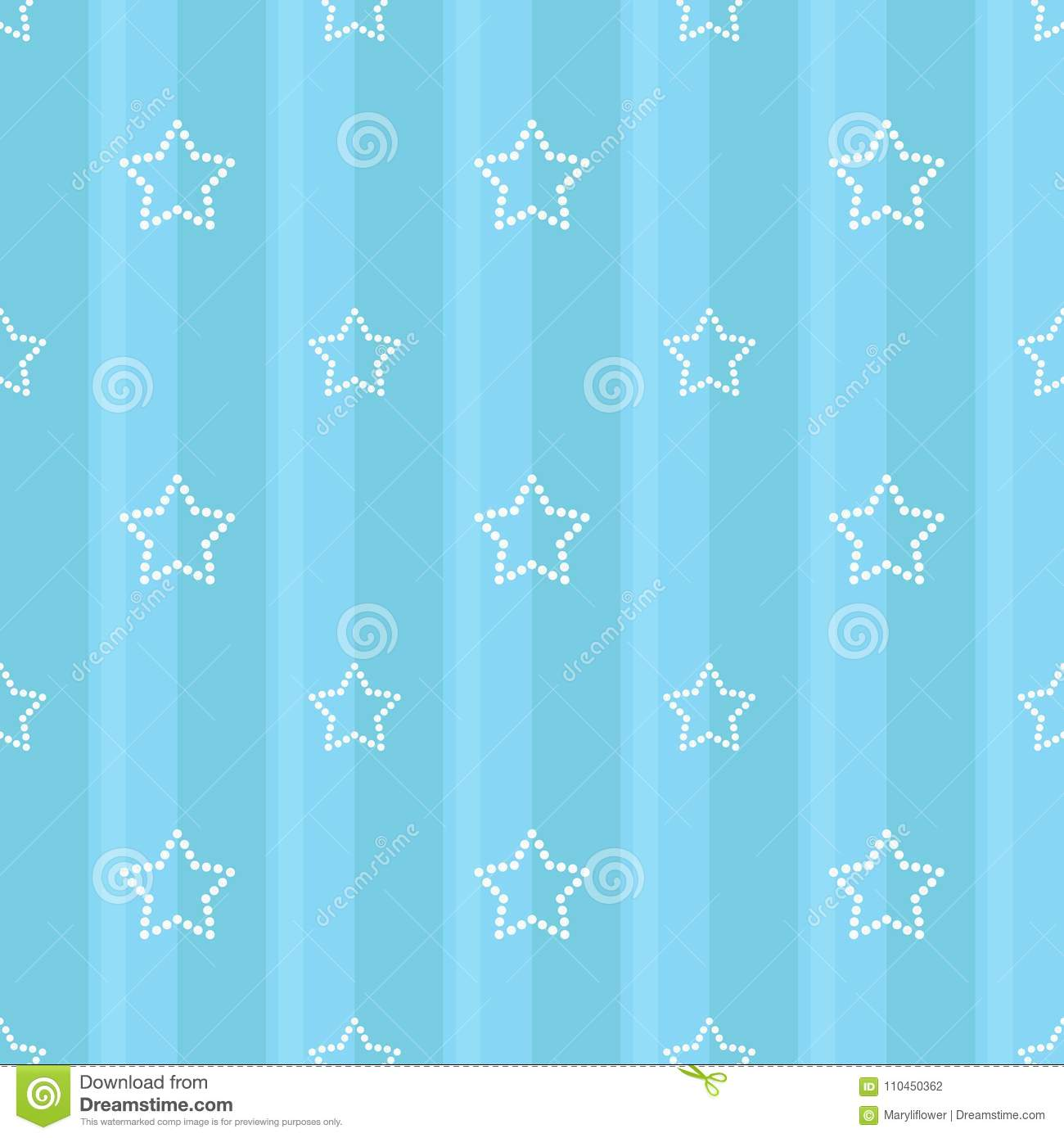 Striped Seamless Blue Pattern With Dotted Stars Children S Bedroom Baby Nursery Wallpaper Scrapbook Cover Or A Gift Wrap Stock Vector Illustration Of Fabric Child 110450362