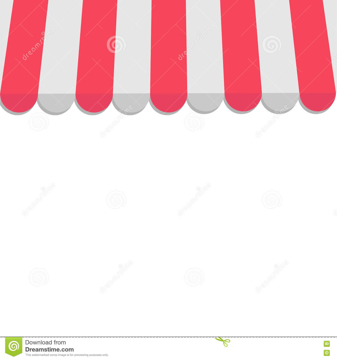 Striped Store Awning For Shop Marketplace Cafe And Restaurant. Red Canopy Roof. Illustration 77231663 - Megapixl  sc 1 st  Megapixl & Striped Store Awning For Shop Marketplace Cafe And Restaurant ...