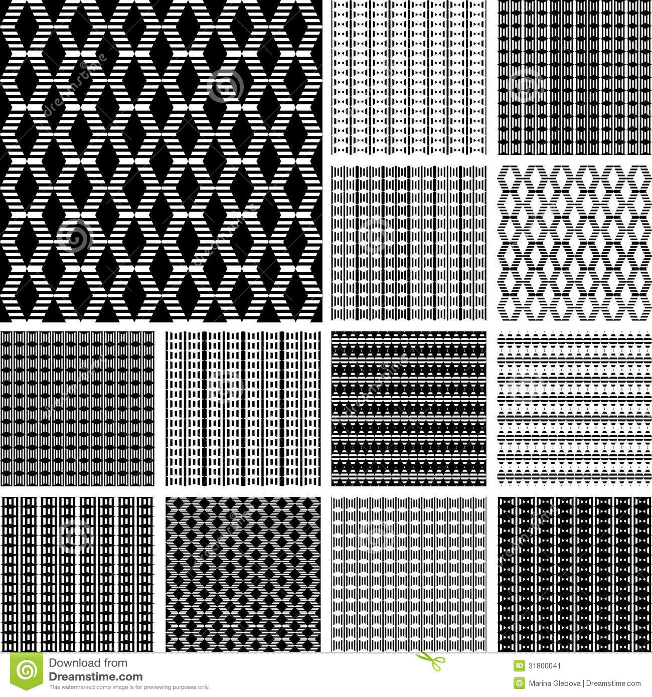 Elements Of Art Pattern : Striped textures with diamond elements stock image