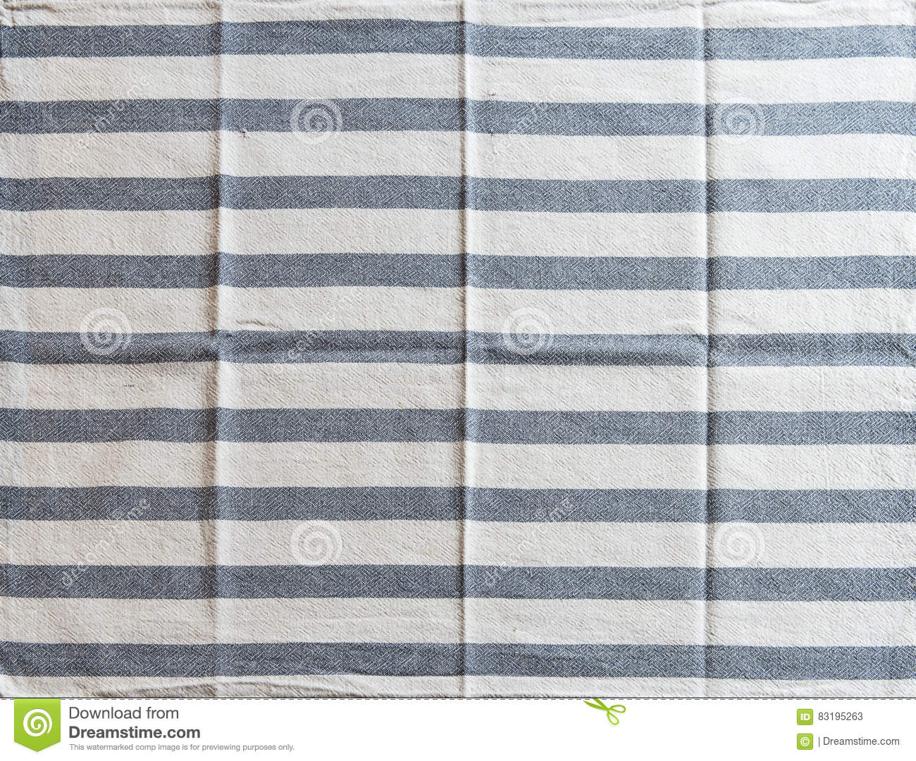 Striped White Kitchen Towel With Blue Texture Stock Image - Image of ...