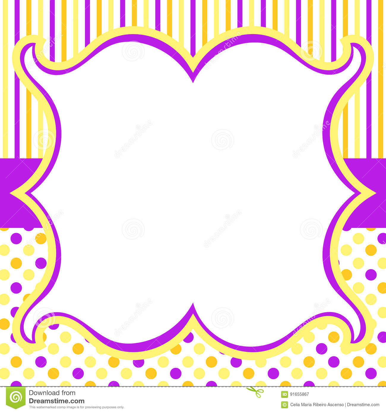 Stripes and dots invitation card