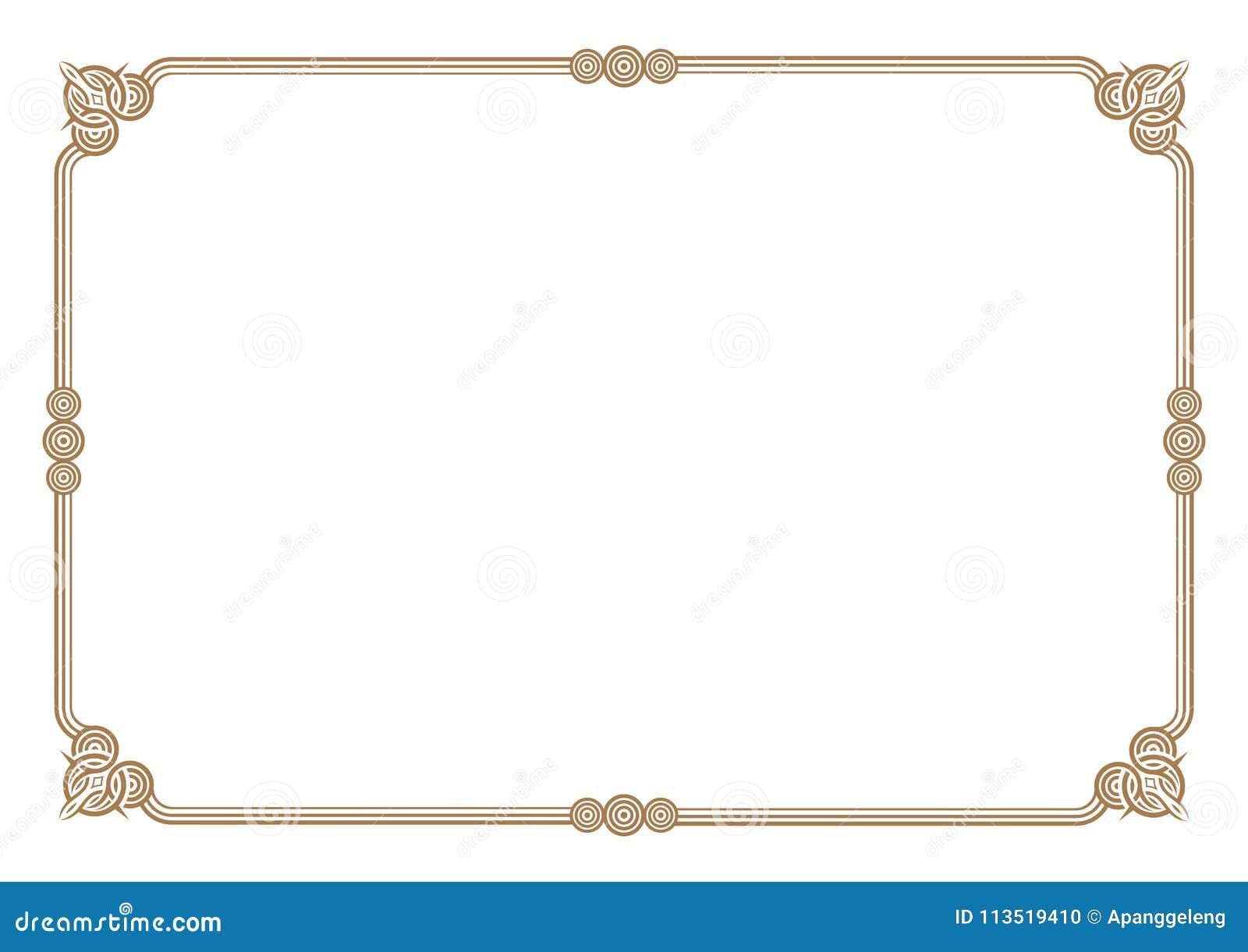 3 stripes style gold border  u0026 frame blank stock vector