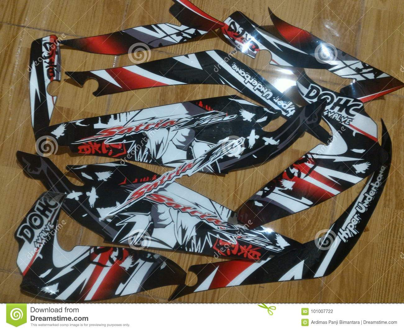 Concept samurai design race striping sticker