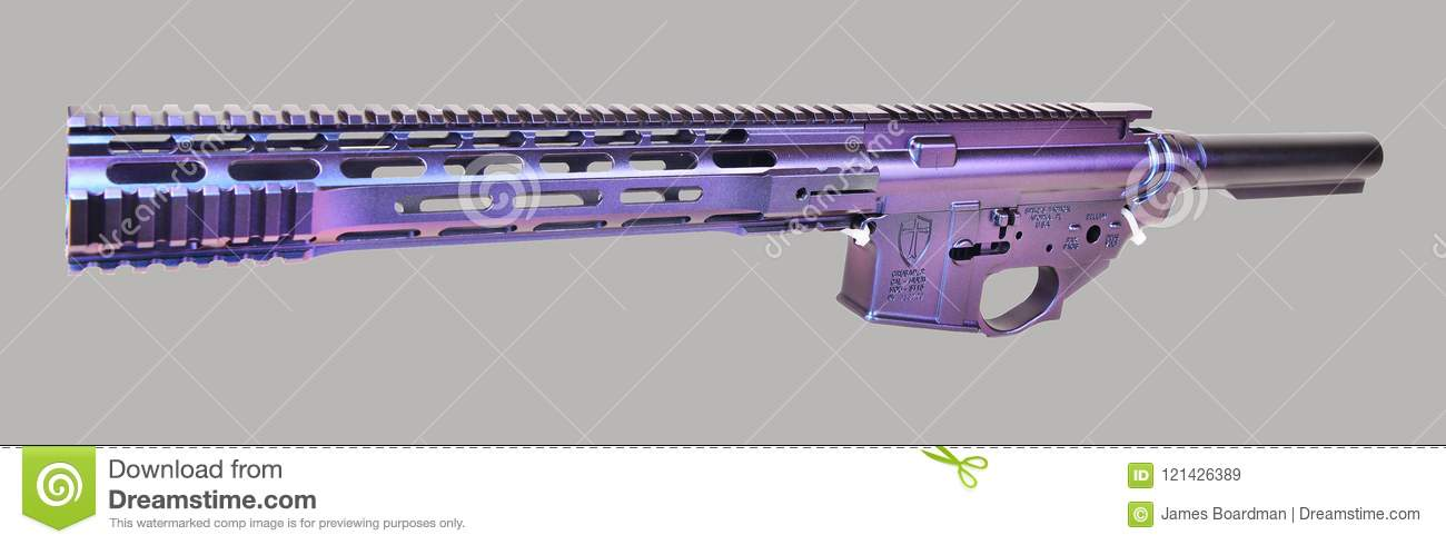 Left Side Painted AR15 Upper, Lower, Hand Guard And Buffer Tube