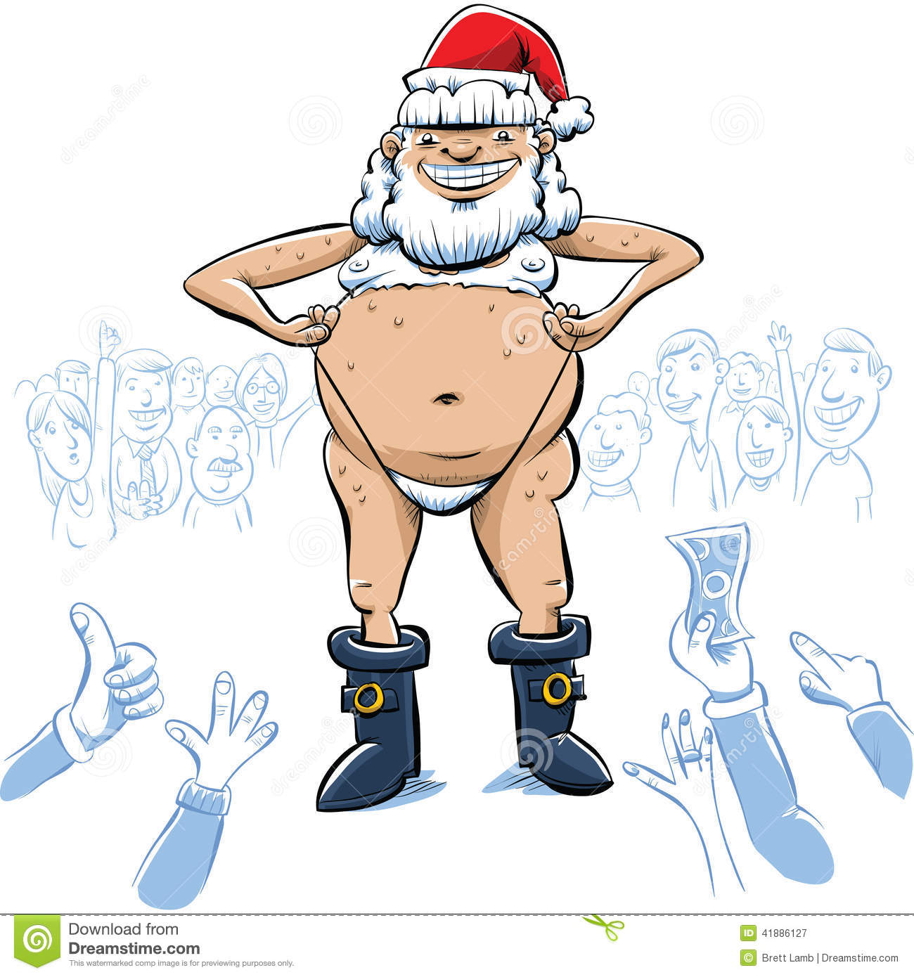 Cartoon claus santa sexy