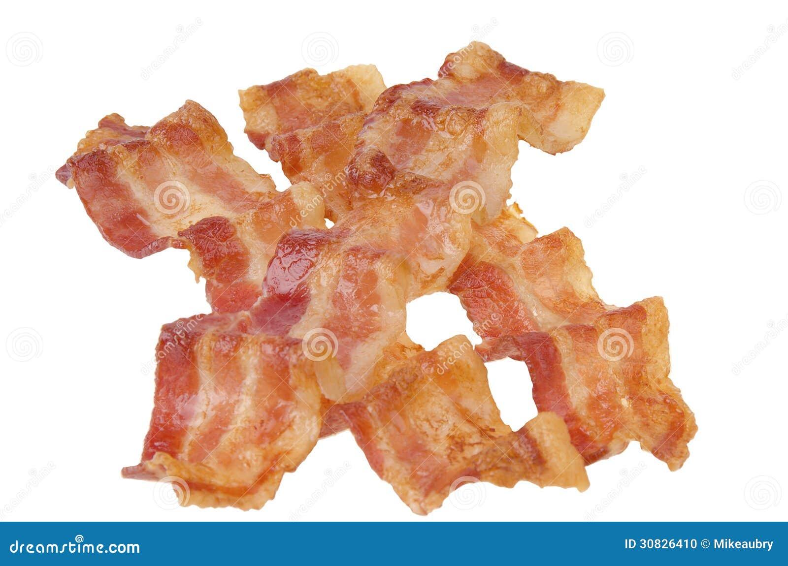 Strisce di bacon fritte