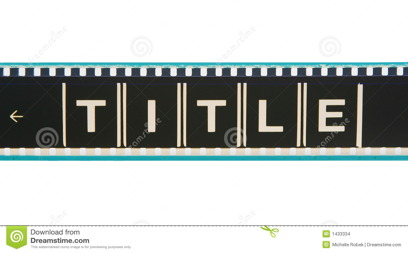 Striscia della pellicola di titolo di film