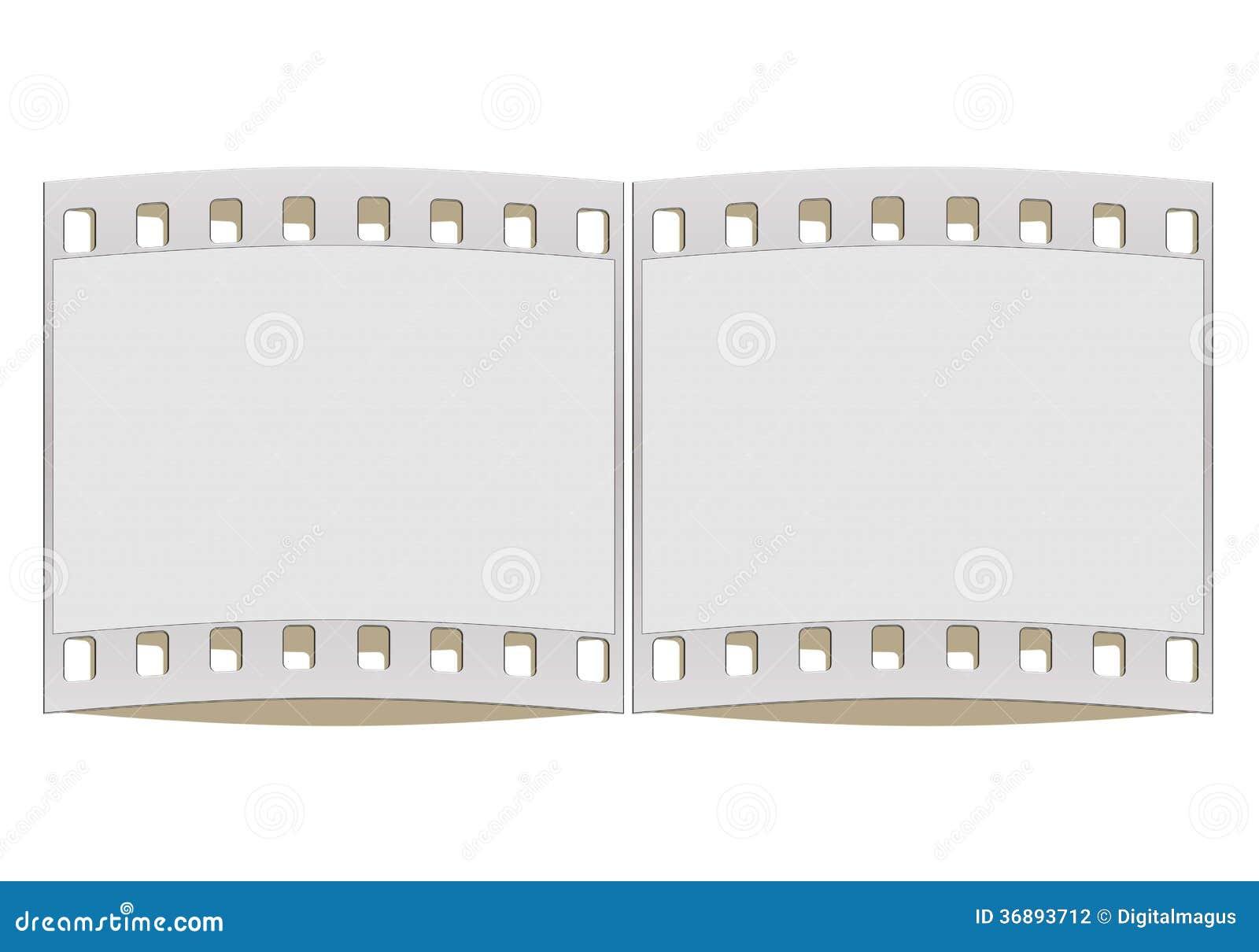Download Striscia Di Pellicola Di 35mm Illustrazione di Stock - Illustrazione di disegno, filmstrip: 36893712