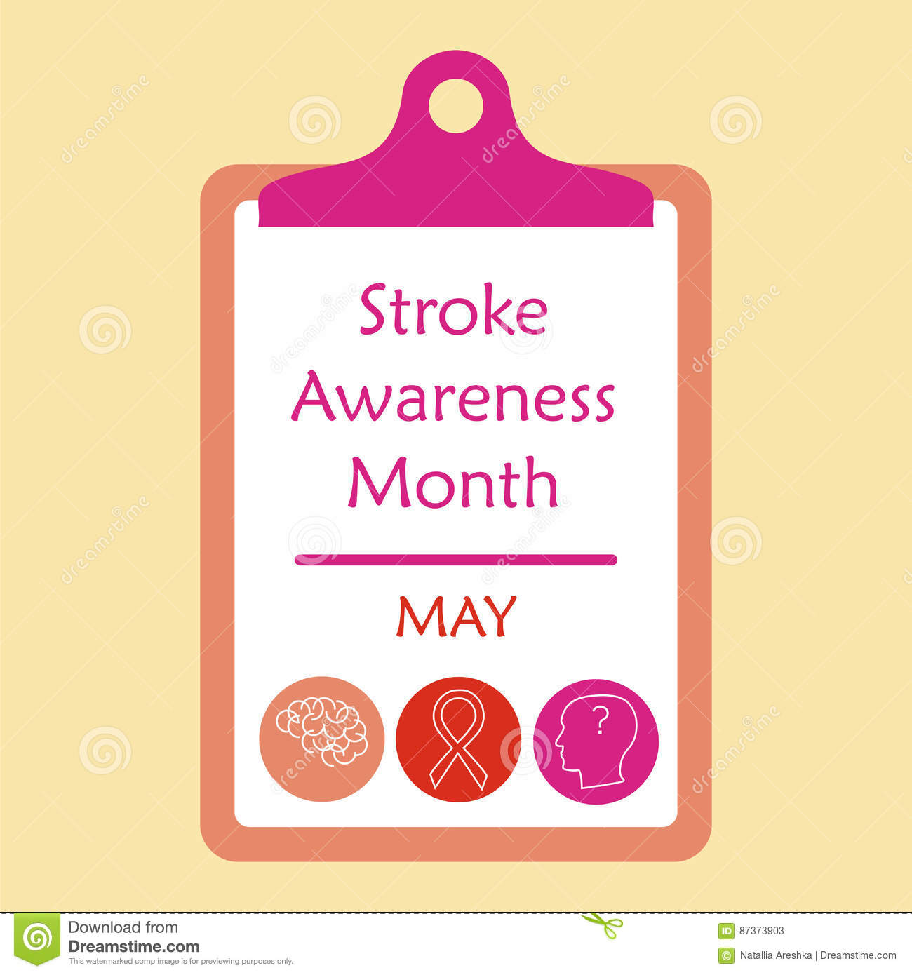 Stroke awareness month stock vector  Illustration of damage
