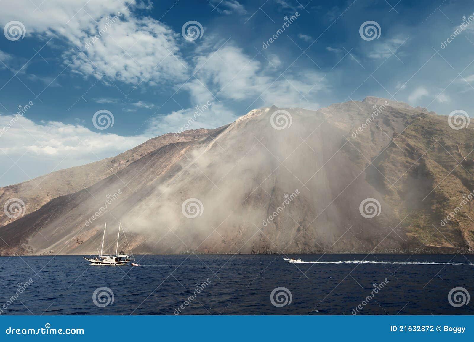 Stromboli Vulkan in Italien