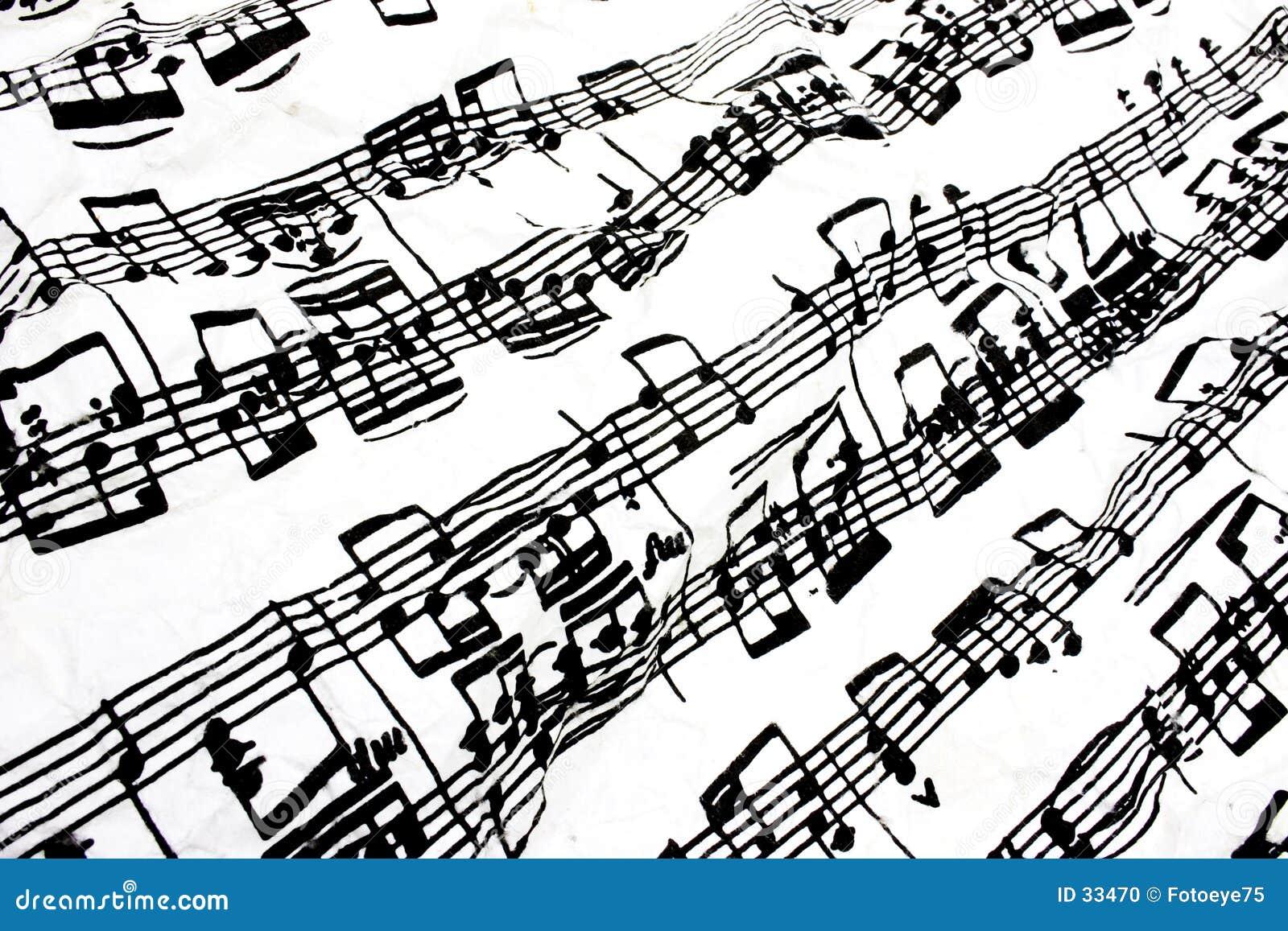 Stromende bladmuziek