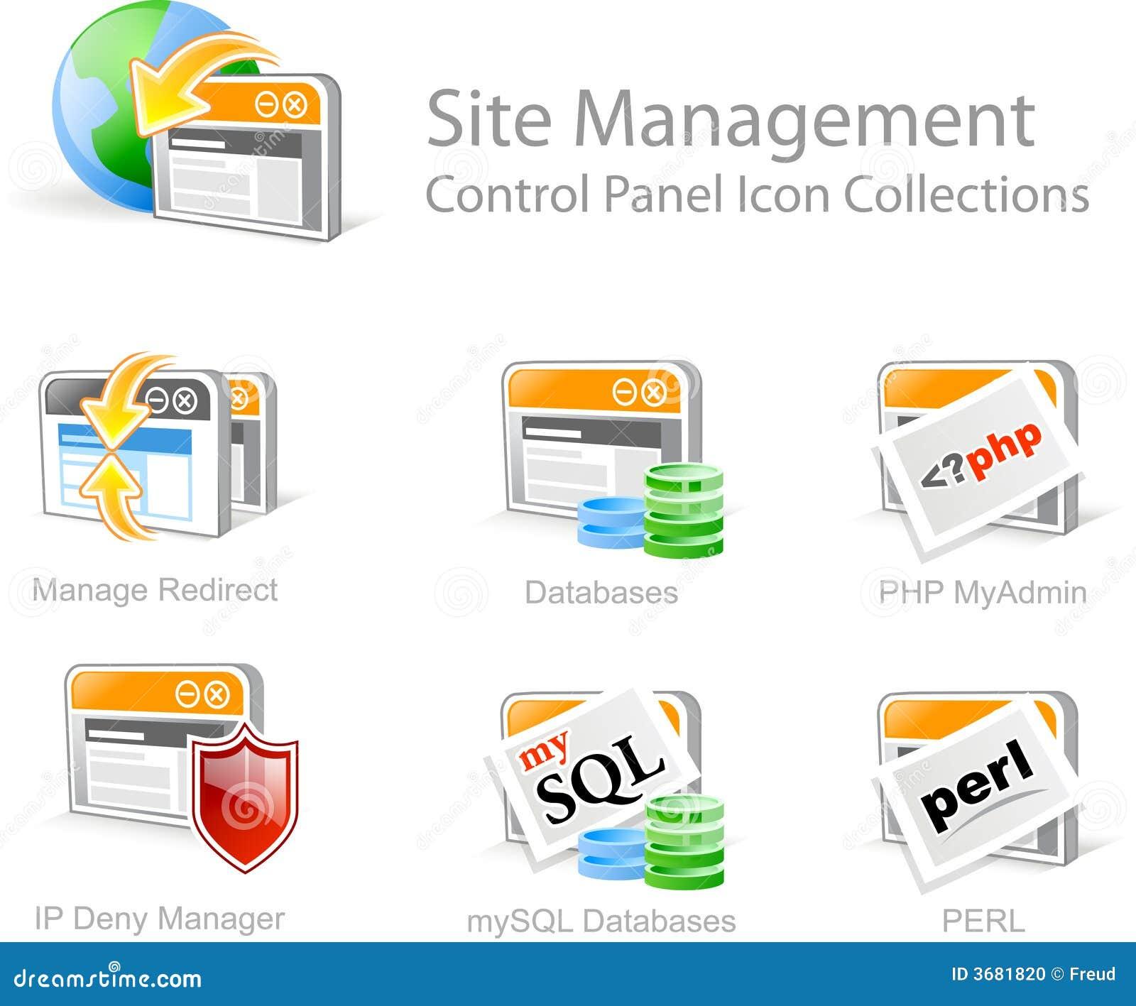 Strona internetowa ikony zarządzania