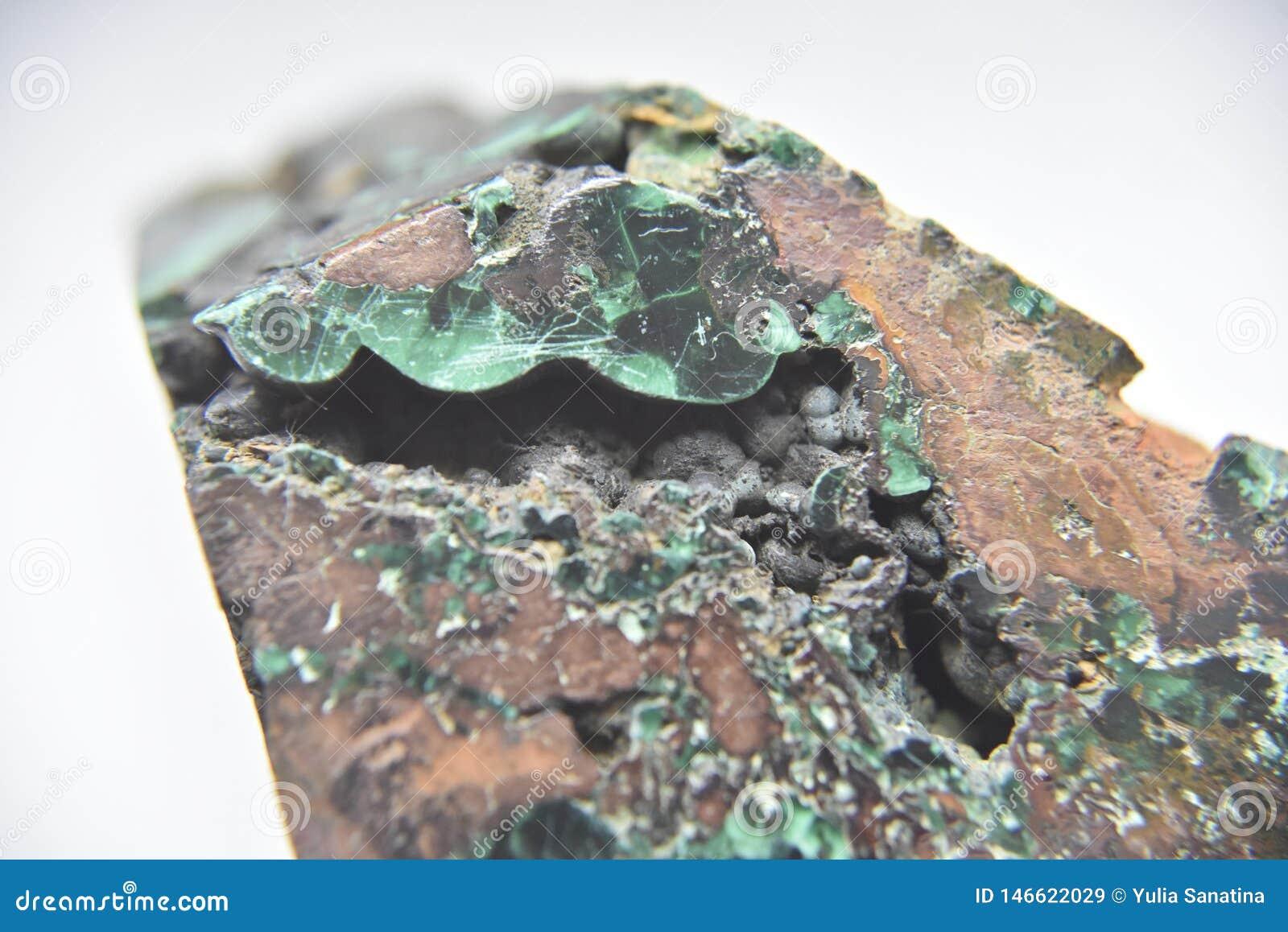 Strona malachitowa skała