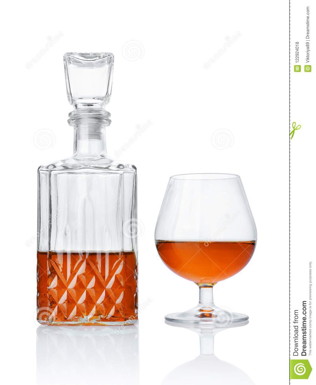 Strong Alcoholic Drink Cognac In Sniffer Glass And Crystal