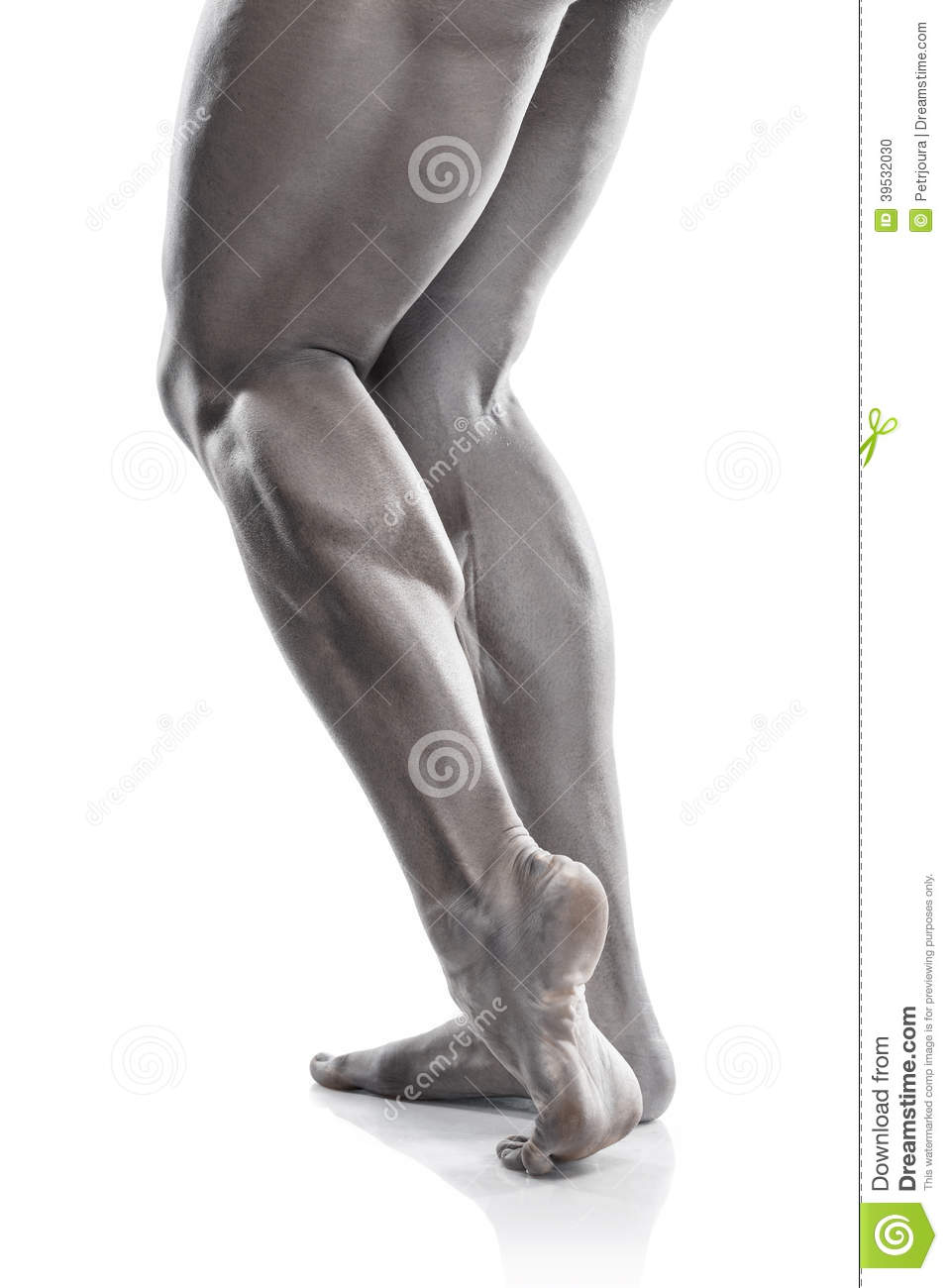 Strong Athletic Man Fitness Model Torso showing muscular legs