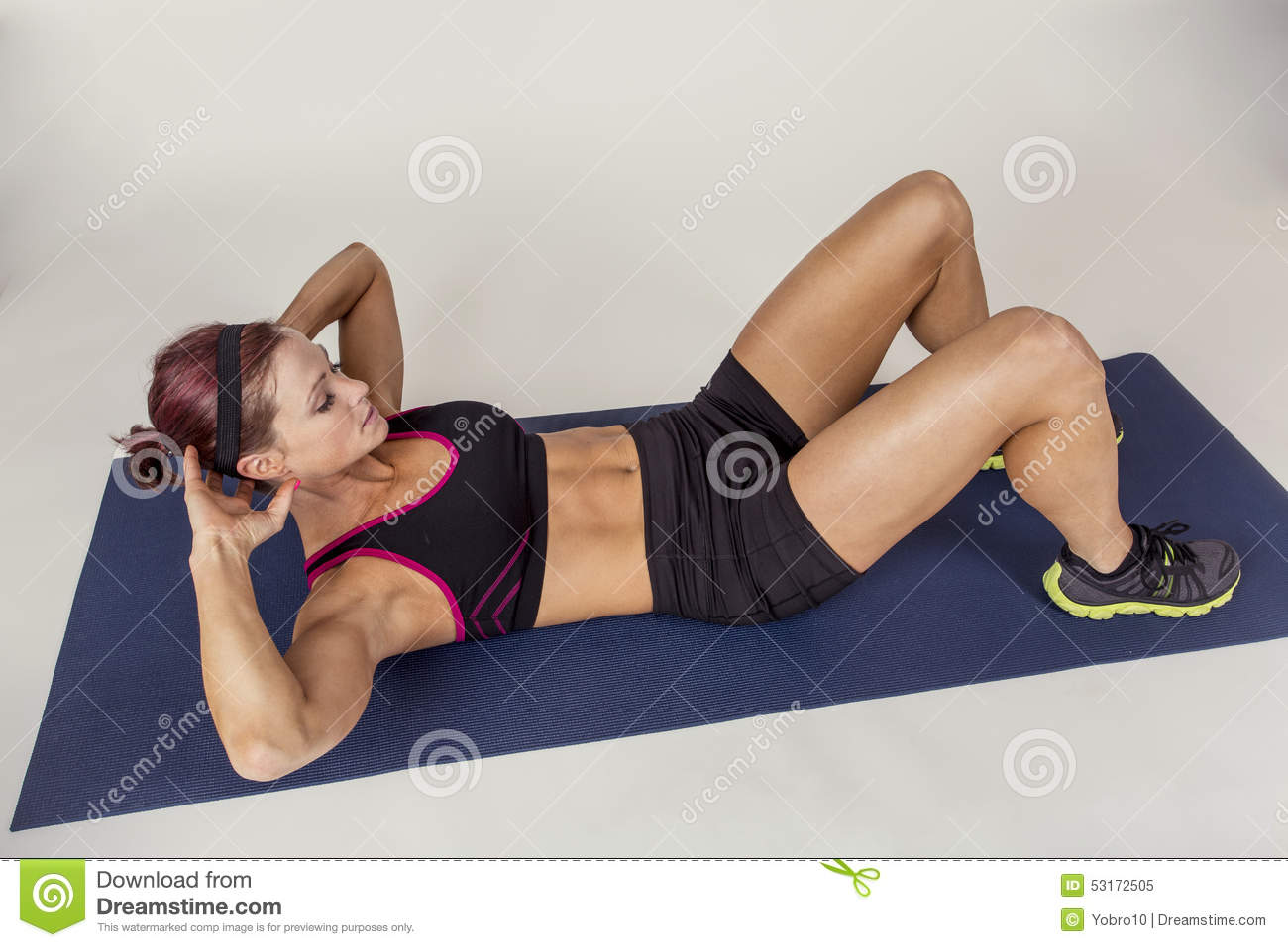 Beautiful, Strong, Slender, In Good Physical Shape In The